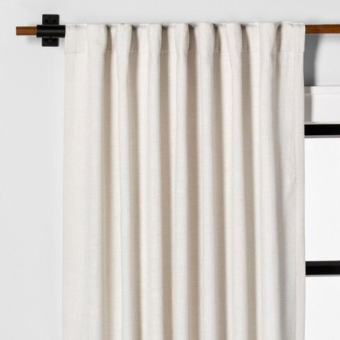 Curtain Panel Solid Sour Cream Hearth Hand With Magnolia