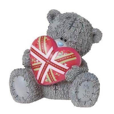 Me to you #tatty teddy - #money box holding #union jack,  View more on the LINK: 	http://www.zeppy.io/product/gb/2/321984889202/