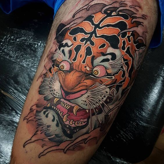 Tiger Tattoos For Men Tiger Tattoo Tattoos For Guys Tiger Tattoo Design