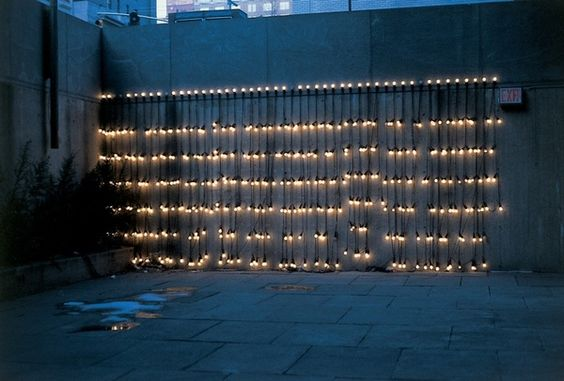 """Arranging lights like this would make a great party #backdrop!    Felix Gonzalez-Torres, """"Untitled"""" (America), 1994–95 (installation view,  Whitney Museum of American)"""
