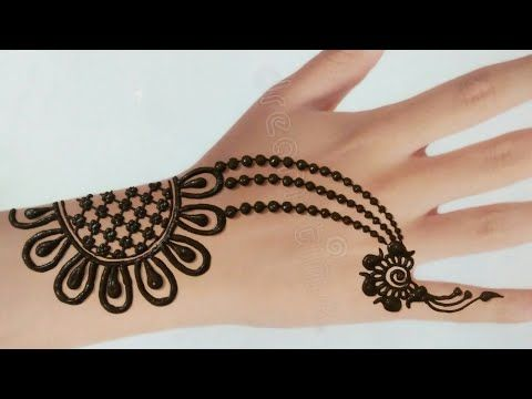 Beautiful Back Hand Mehndi Design Jewellery Style Latest Henna Mehndi Design Youtube Desain Henna Mehndi Designs Henna