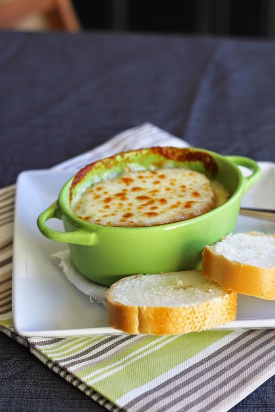 French onion soup topped with ooey, gooey cheese. Easy recipe ...