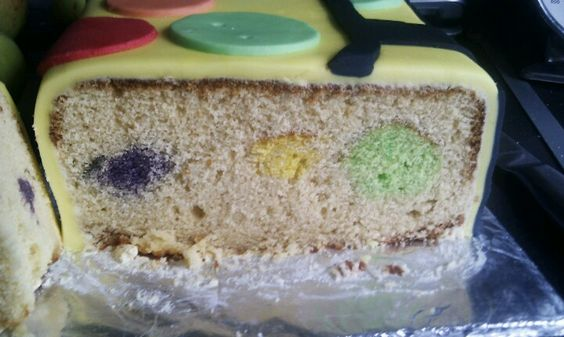 Inside spotty cake! @Samantha Gilkes