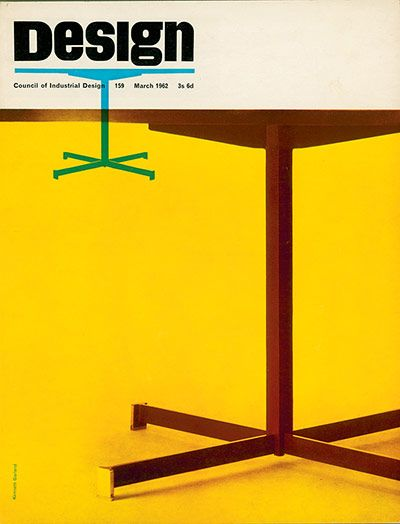 Design by Ken Garland.  The March 1962 issue is one of British art director Ken Garland's strikingly simple covers: