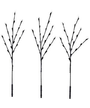 Use multiple sets of these lights to illuminate your front walkway or scatter a few along the driveway. The twigs look natural and sophisticated amid your yard's bare trees.