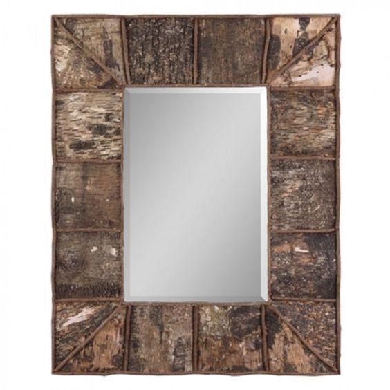 Uttermost Console Mirror in Real Birch Bark - 09030 B