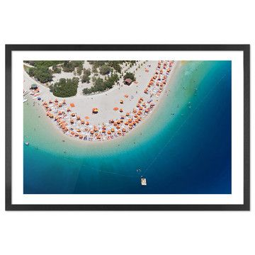 I liked this design on #Fab. Lagoon & Beach Framed