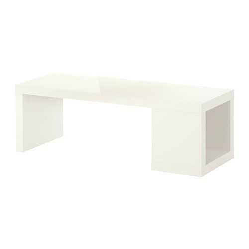 Lack Coffee Table High Gloss White By Ikea One Open Compartment For Storing