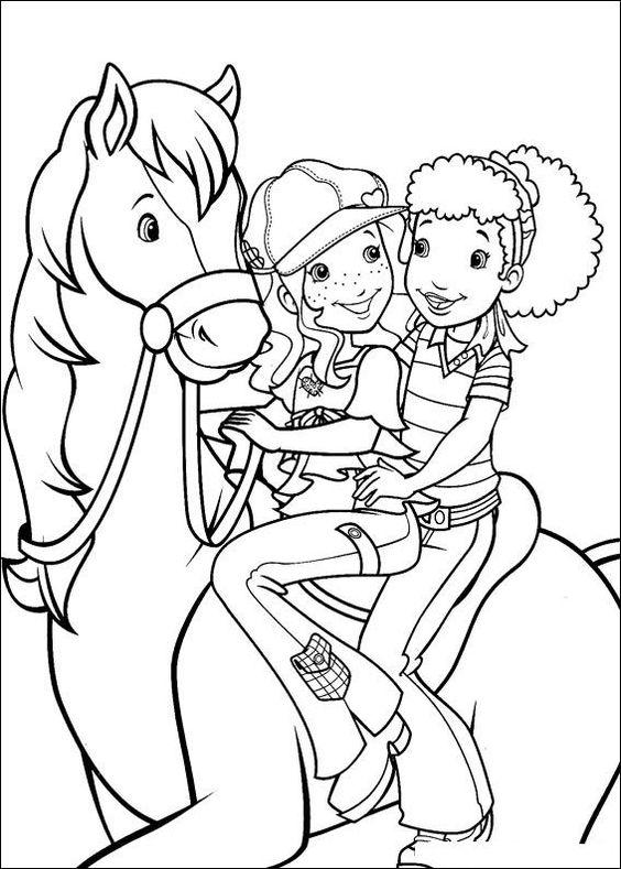 kleurplaat paard paarden