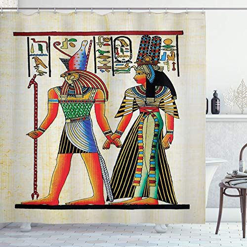 Ambesonne Egyptian Shower Curtain Papyrus With Historical
