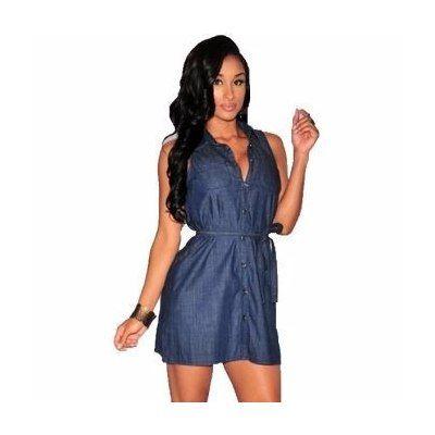 Vestido Ropa Y Más Jeans Corto-azul Bs 24000.0