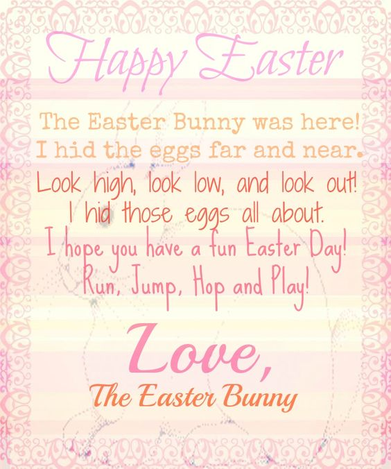 Letter from the easter bunny printable life 39 s all about for Letter to easter bunny template