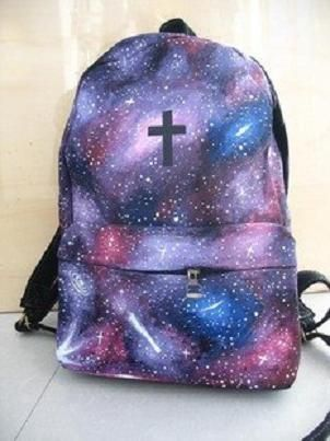 Starry Cross Bag #Romwe Oh my goodness.... I honestly need this. #bag #galaxy