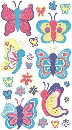 Spring Butterflies Stickers