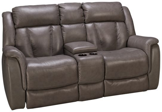 Futura Roswell Futura Roswell Leather Power Loveseat Recliner With Tilt Headrest And Console Loveseat Recliners Love Seat Recliner