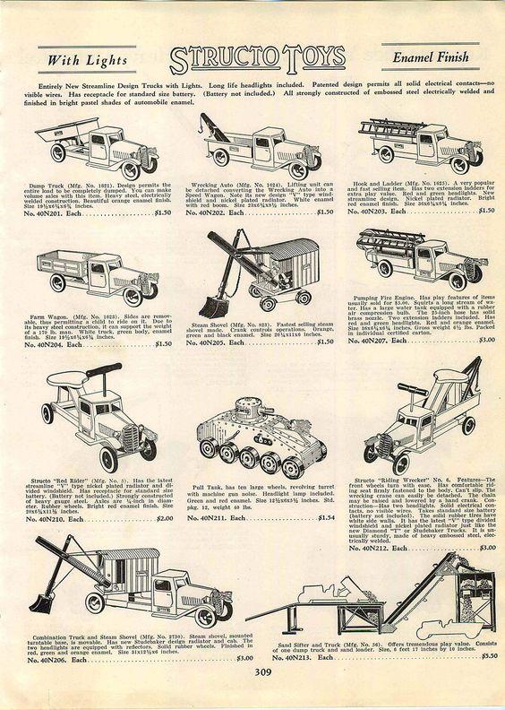 1934 Advert Structo Toys Riding Wrecker Tow Truck Keystone Ride Em Locomotive | eBay