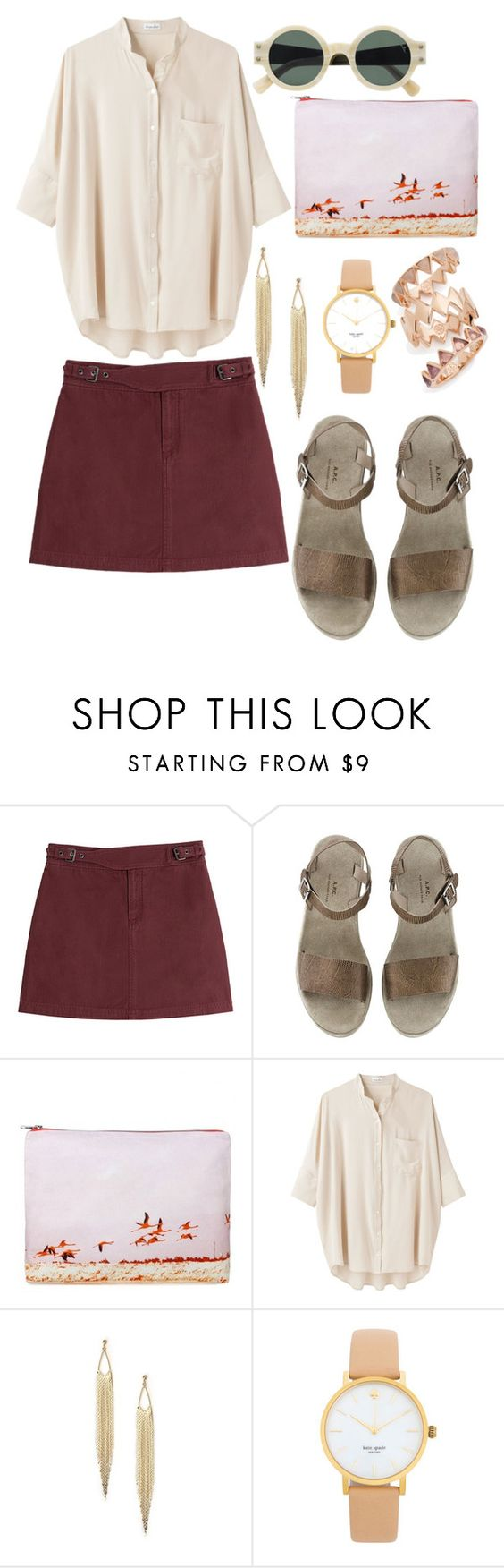 """Untitled #8598"" by beatrizibelo ❤ liked on Polyvore featuring Marc by Marc Jacobs, Dezso by Sara Beltrán, Steven Alan, Kate Spade and Tory Burch"