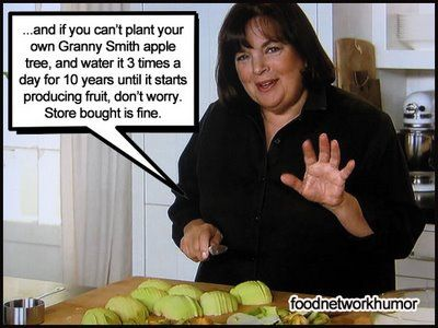 ....and if you can't plant your own granny smith apple tree, and water it 3 times a day for 10 years until it starts producing fruit, don't worry...store bought is fine.