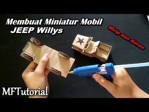 Cara Membuat Miniatur Mobil Jeep Dari Kardus Ide Kreatif Youtube Kreatif Miniatur Kardus