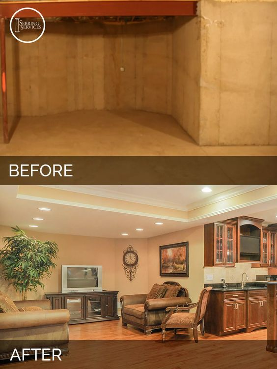 Before And After Basement Renovations Top Before And