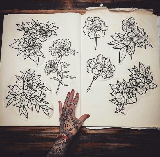Tattoo designs by Hannah Pixie Snowdon