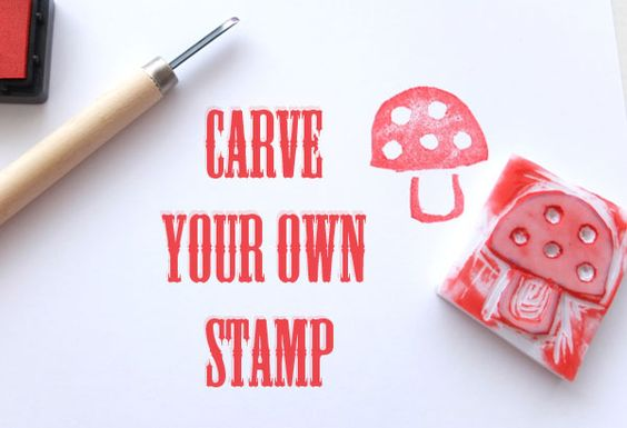Carving your own stamps is super fun and not as difficult as you may think. Supplies are relatively inexpensive and it's a great way to personalize gift cards, wrapping paper and scrapbook projects.