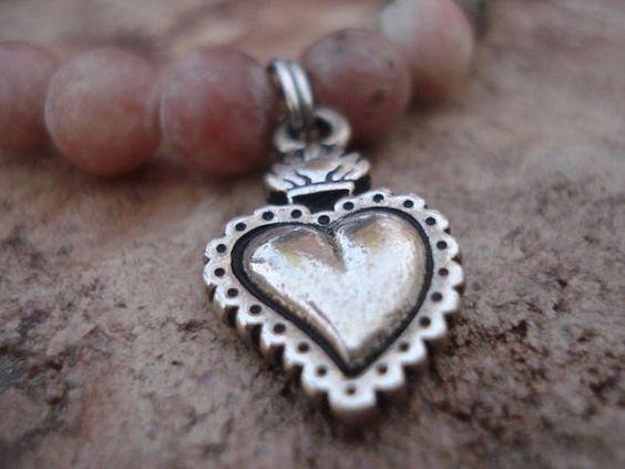 Handmade Jewelry//Lipidolite by MakeMeSmileJewelry on Etsy,