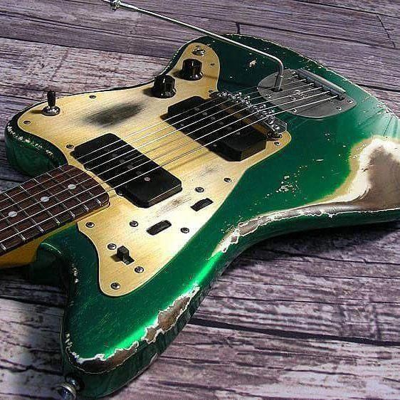 Custom Ordered Super Beat Up Galaxyflite Fenderbassguitar Learn Guitar Best Guitar Players Guitar