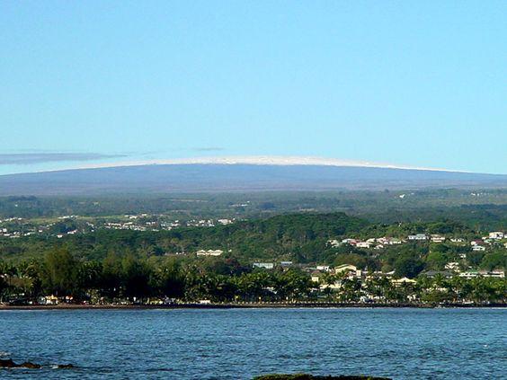 Mauna Loa over Hilo Bay