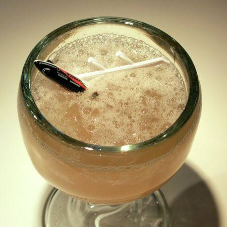 JET PILOT - 1oz Jamaican rum / 3/4oz gold Puerto Rican rum / 3/4 oz 151-proof Demerara rum / 1/2 oz grapefruit juice / 1/2 oz lime juice / 1/2 oz cinnamon syrup / dash of Angostura bitters / 6 dashes absinthe - Shake an pour over crushed ice or a giant cube. Massive array of flavors combine seamlessly. Mad strong. Will get you airborne.