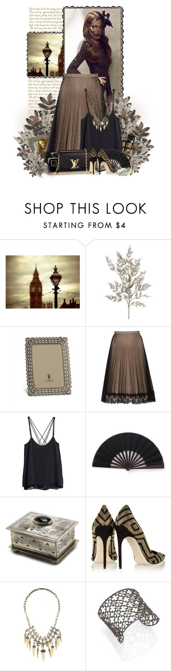"""ana"" by ana-costa-queiroz ❤ liked on Polyvore featuring beauty, L'Objet, Christopher Kane, H&M, Brian Atwood, Louis Vuitton, Forever 21 and Alexis Bittar"