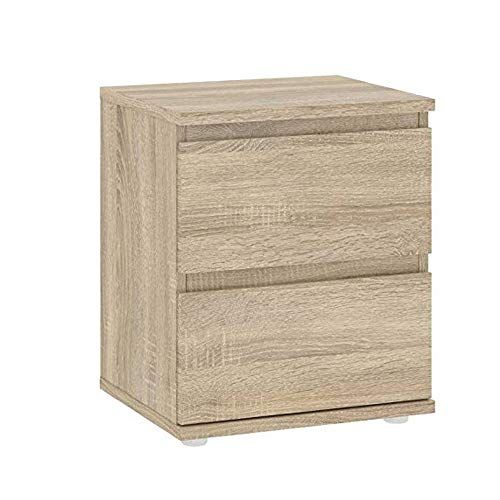 Short Nightstand Wood End Bedside Table