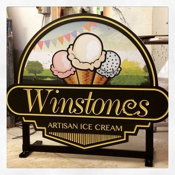 Incredible CNC Signs  Made to Order Ice Cream Sign