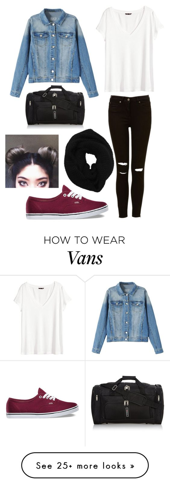 """Why are space buns so cute?????"" by bunnytail14 on Polyvore featuring H&M, Vans and Wyatt:"