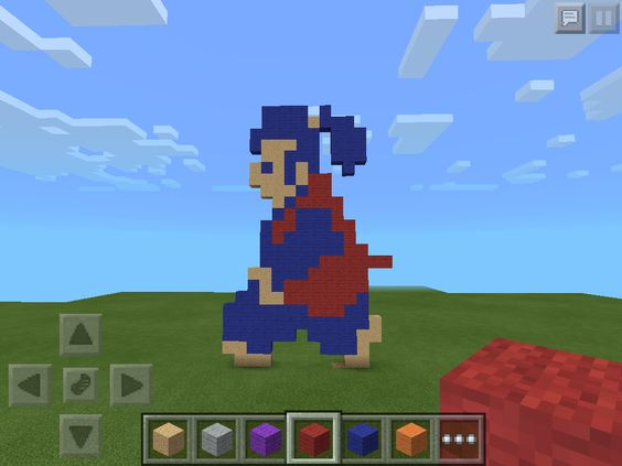 I made a 8-bit Takamaru in Minecraft!!!