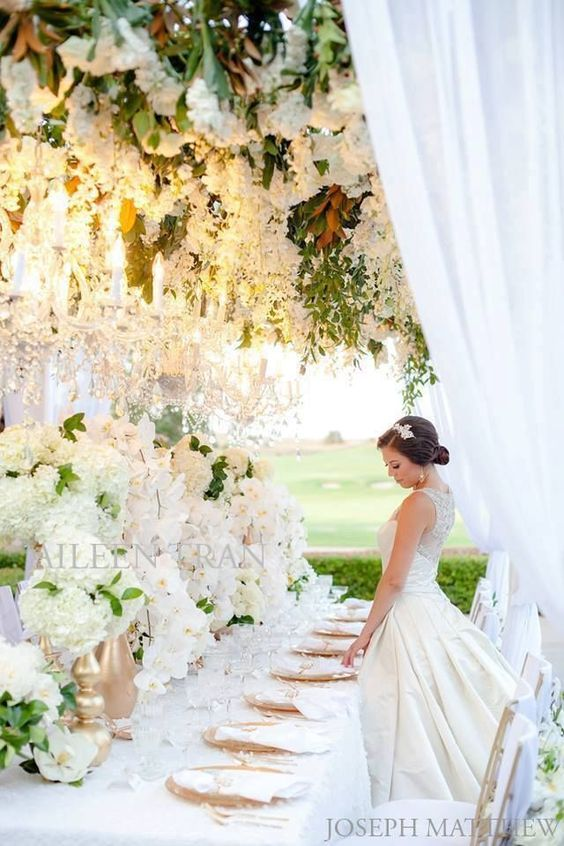 Beautiful white reception