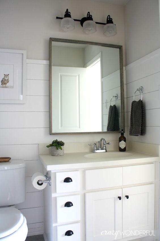 Crazy wonderful shiplap boy 39 s bathroom reveal bathrooms for Crazy bathroom ideas