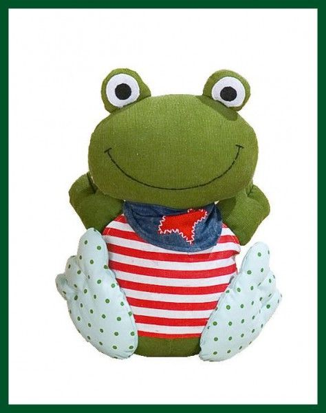 Türstopper FROSCH Textil Türhalter Frog HAPPY FRIENDS Wohnen + Dekoration Allerlei Dekoration