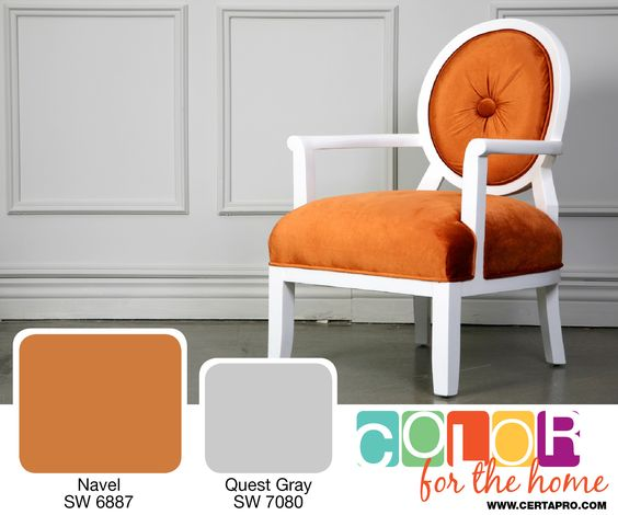 Orange is in! Introduce this color in your home to feel bold and bright. For more color ideas visit www.certapro.com/blog.aspx