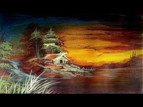 Baru 30 Lukisan Pemandangan Yang Sederhana Lukis Pemandangan Air Terjun Dan Tebing Acrylic Painting Download Contoh Gambar L Di 2020 Pemandangan Gambar Street Art