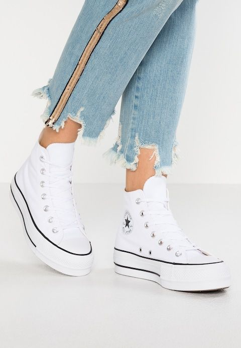 Converse CHUCK TAYLOR ALL STAR LIFT - Sneakers hoog - white ...