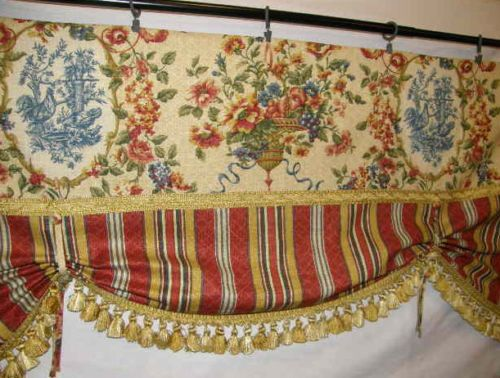 French Country Tie Up Balloon Valance Curtain Waverly