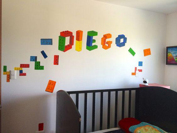 Decoraci n para cuarto de ni os lego habitacion pinterest Decoracion cuarto nino