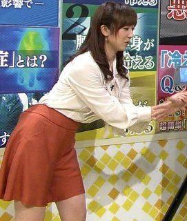川田裕美アナウンサーの腰