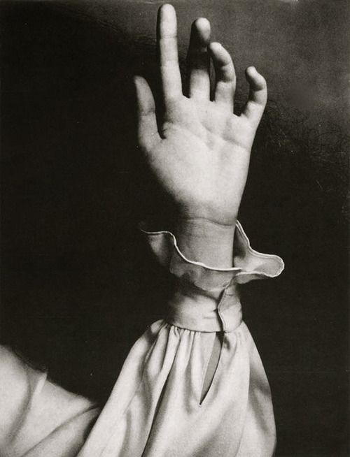 Untitled (Hand with long sleeved blouse), Vogue, 1968 (Richard Avedon)