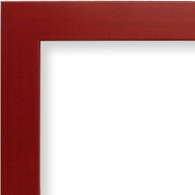 varick gallery wide smooth picture frame color red size 19 x 25