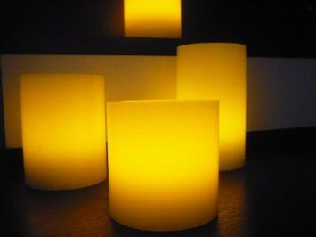 Amazon.com: Flameless Candles; LED Candles with Remote Control, Pillar Real Wax Candles, 3-inch, 4-inch, 5-inch and 6-inch Candles Set of 4 (ROUND EDGE): Home & Kitchen