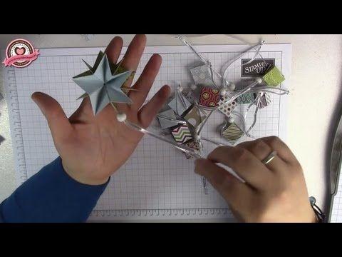 ▶ Tutorial: Zauberstern/ Weihnachtsstern falten mit Stampin' Up! - YouTube