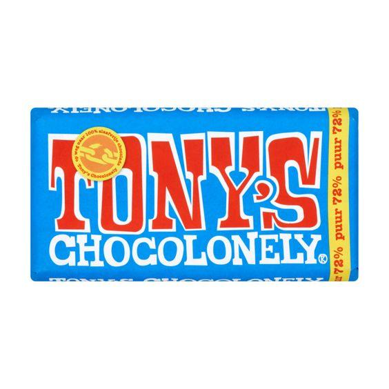 Tony's Chocolonely Puur 72% 180g (Bevat soja)