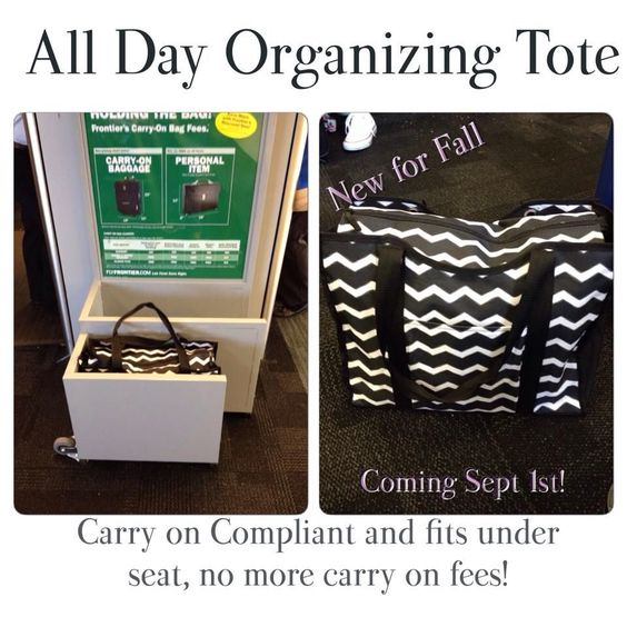 Works as a carry on bag and it's on sale in sept.  Www.mythirtyone.com/kelliemiller